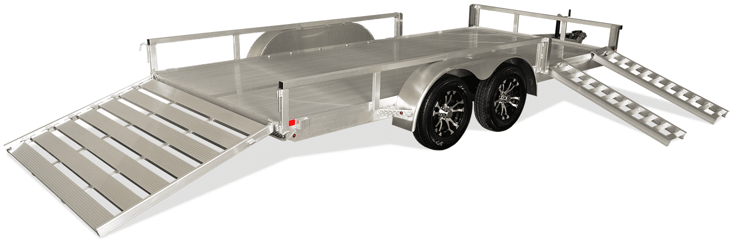 New Aluminum Trailer at I39 Supply