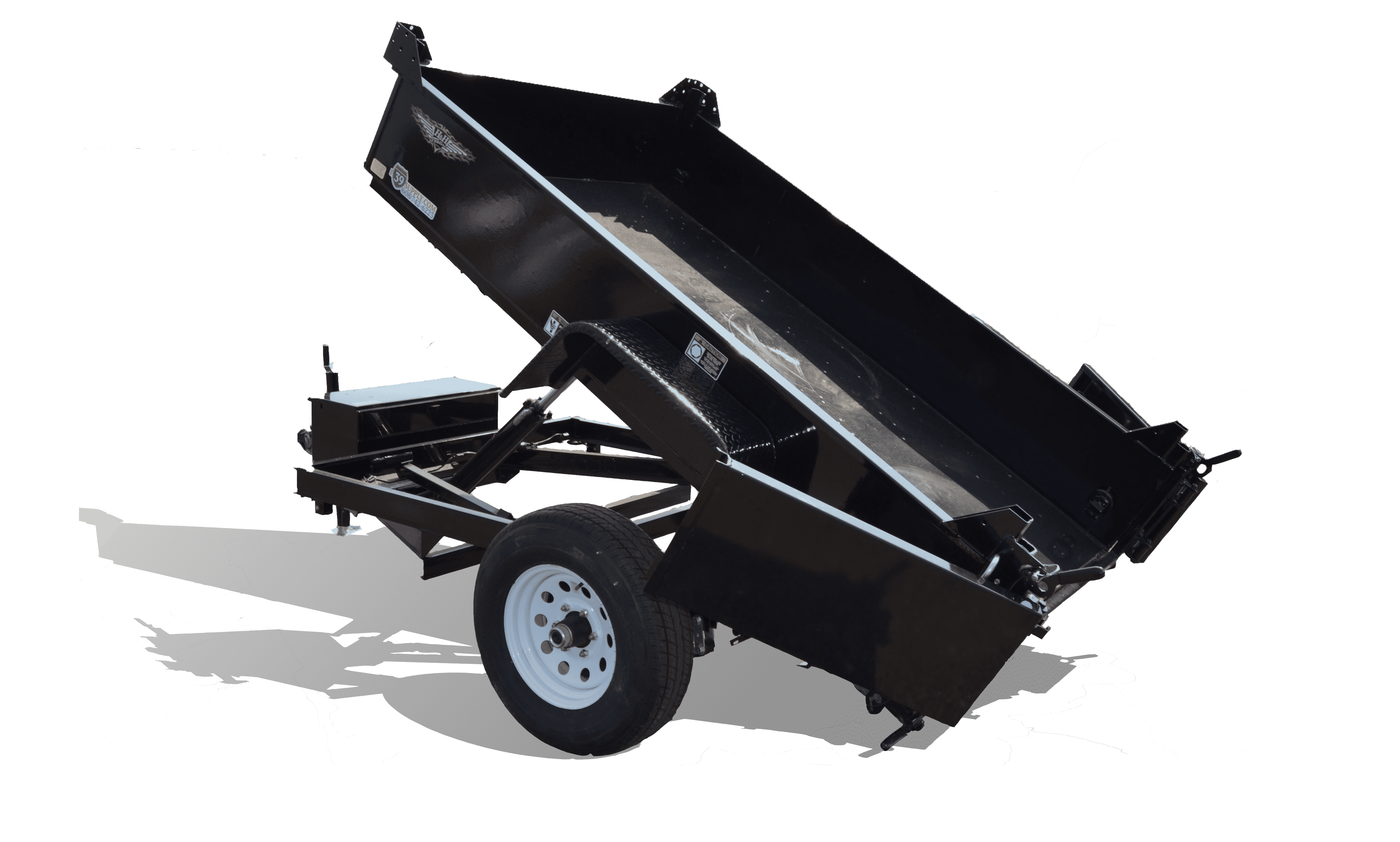 Steel Homeowner Dump Trailer at I39 Supply