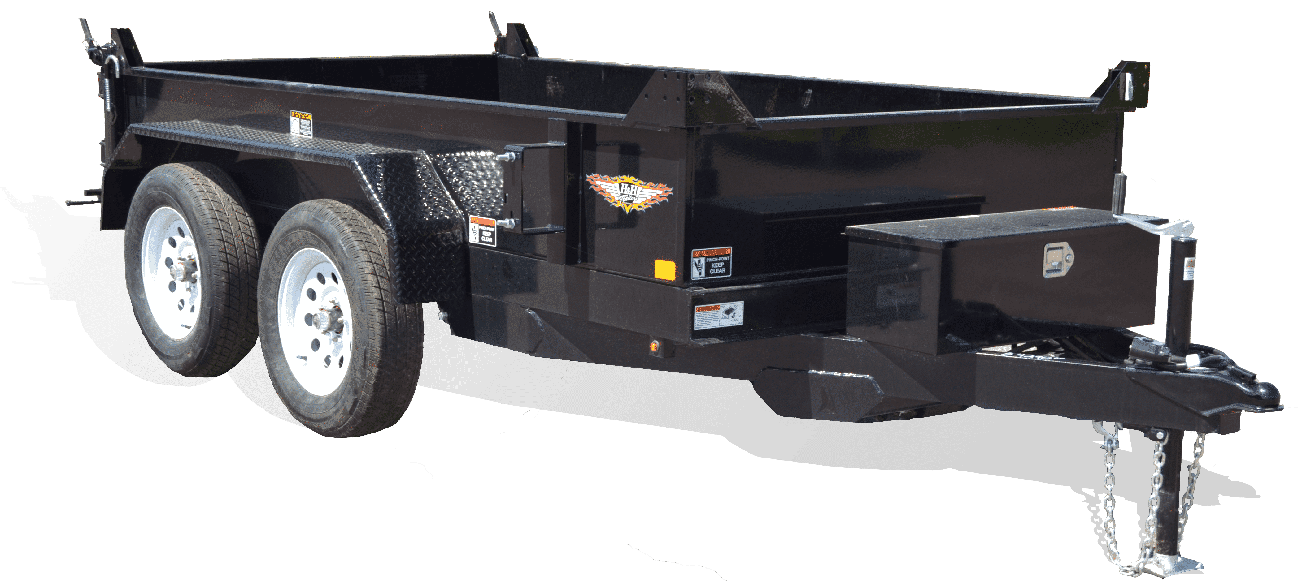 7k Steel Homeowner Dump Trailer at I39 Supply